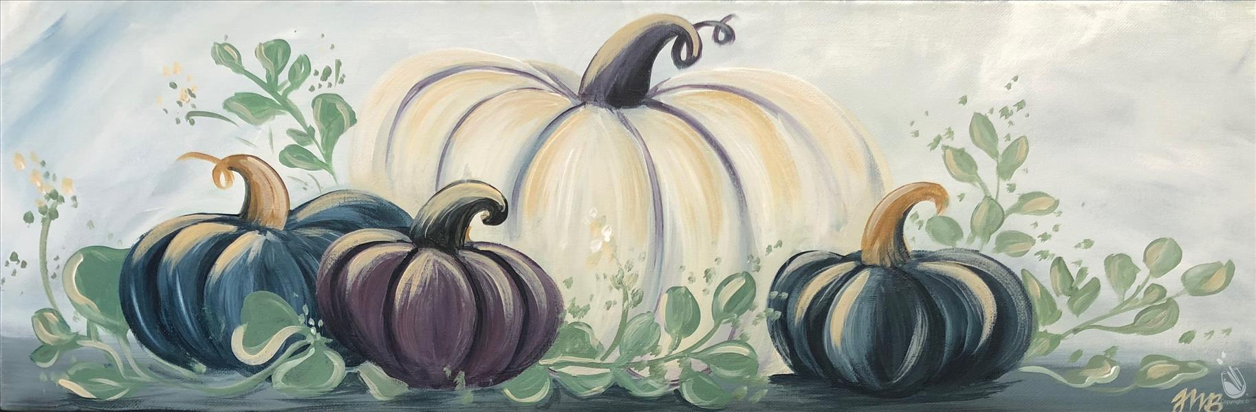 Pumpkins and Eucalyptus