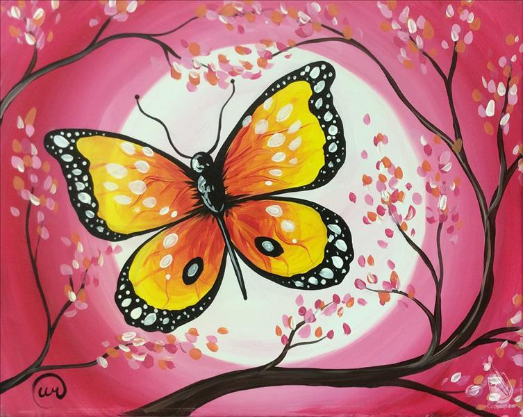 Butterfly on a Pink Moon