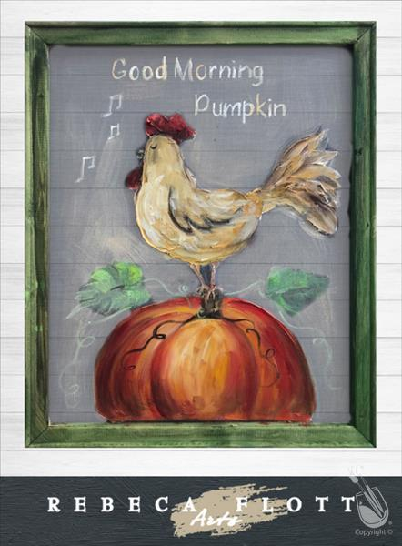 Screen Art - Good Morning Pumpkin - In Studio