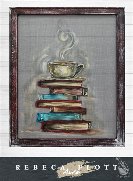 SCREEN ART - Books and Coffee **LIMITED SEATING**