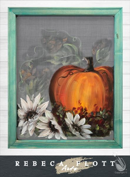 Screen Art - Autumn Leaves, Pumpkins Please