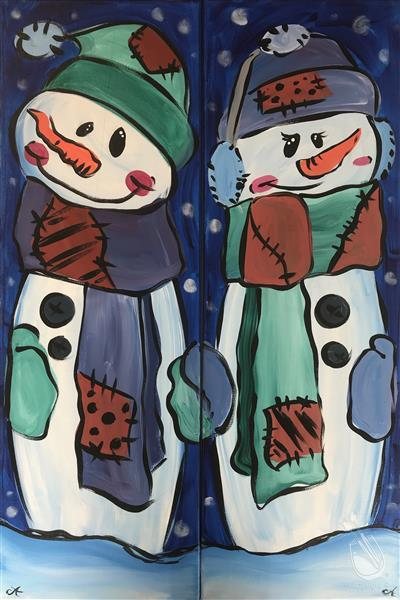 Patchwork Snow Buddies - Set