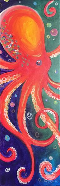 How to Paint NEW! - Vivid Octopus - LONG CANVAS