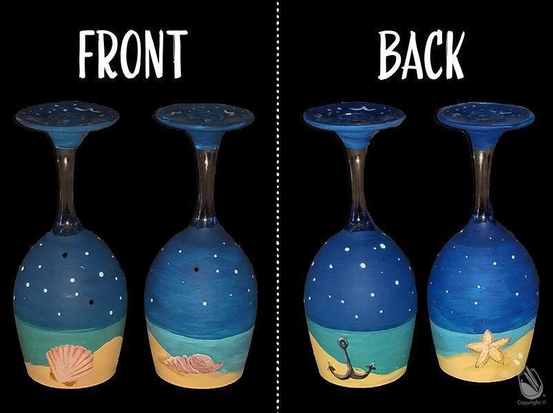 How to Paint NEW! - Island Breeze Candle Holders - WINE GLASSES