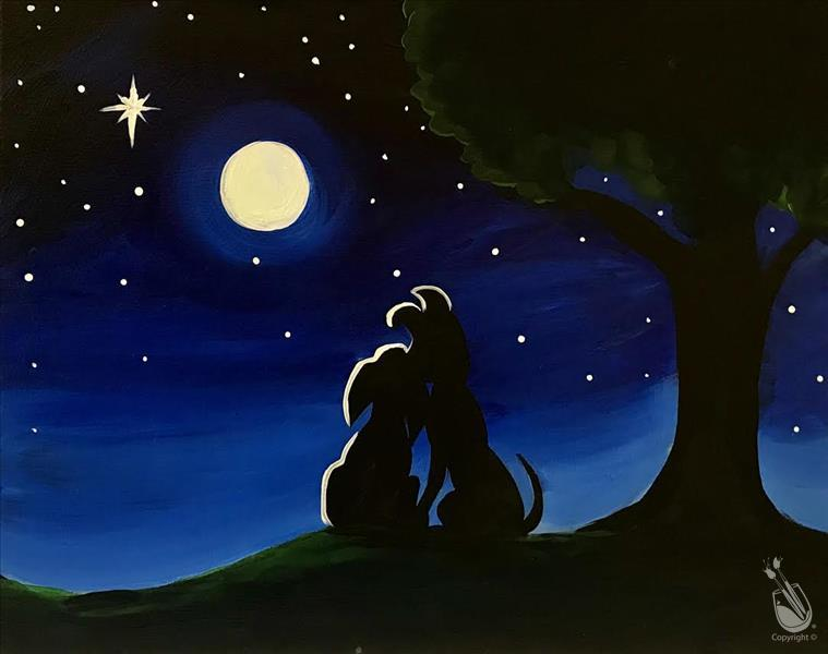 Puppy Love in the Moonlight