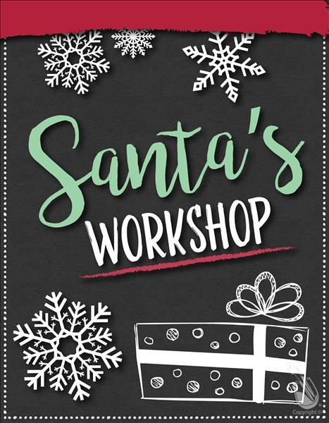 How to Paint Santa's Workshop - All Ages!