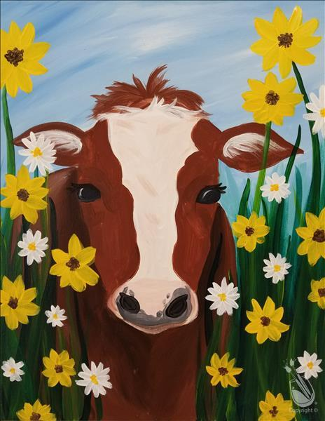Moo-Mimosa Sunday - Daisy the Cow