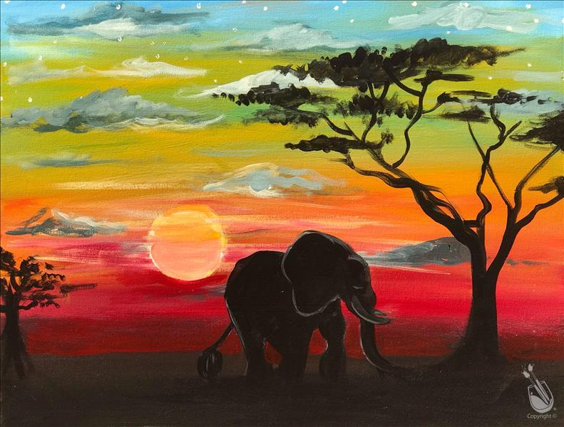 African Sunset - In Studio Class!