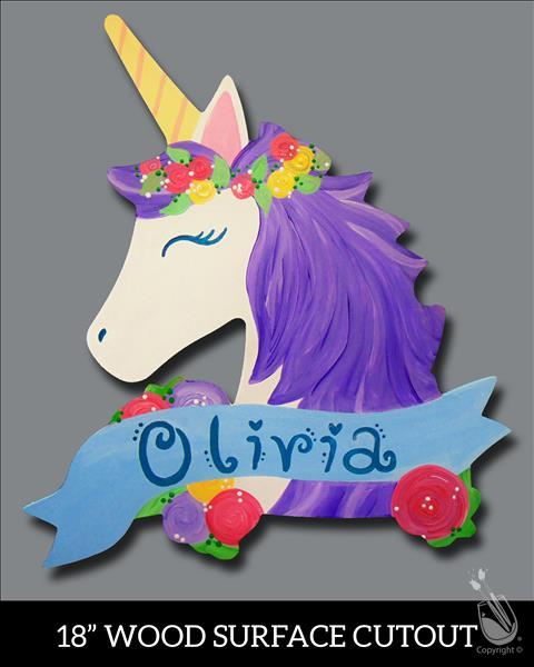 Floral Unicorn Cutout Outdoor Event