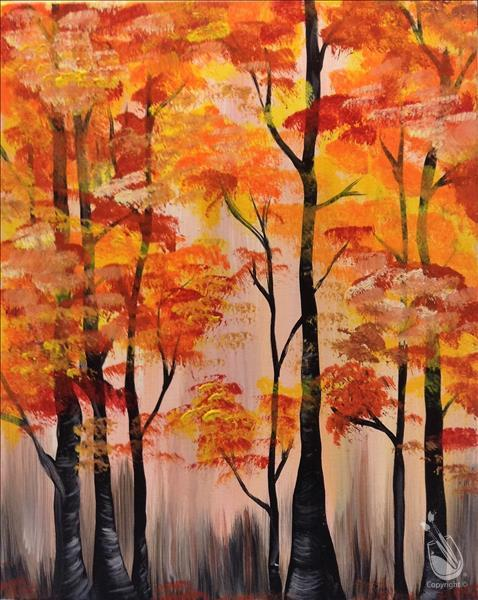 How to Paint Abstract Fall Forest
