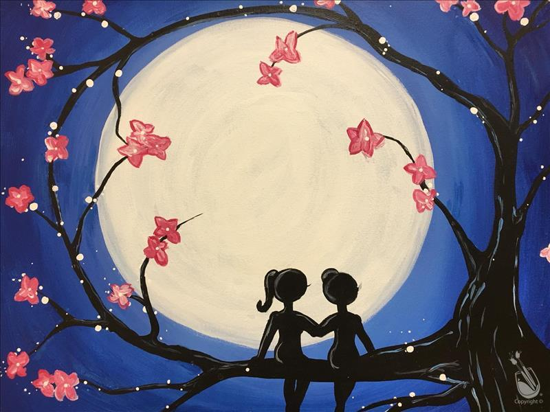 How to Paint Kids Winter Break- BFF's and Blossoms (All Ages)