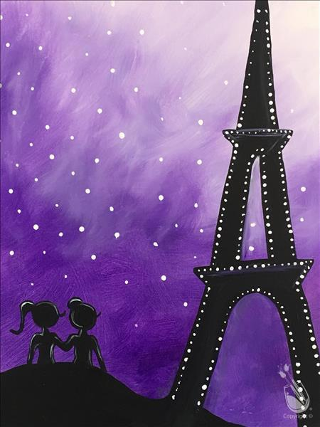 FAMILY PAINTING-BFF's in Paris