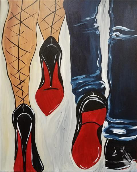 Steppin in Red Bottoms Together  *PAINT 1 - TAKE 1