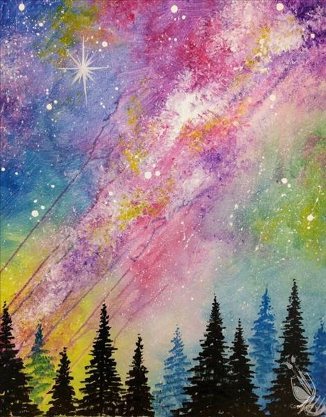 How to Paint *All Ages* Rainbow Galaxy