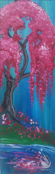 Flowering Willow 10x30 canvas