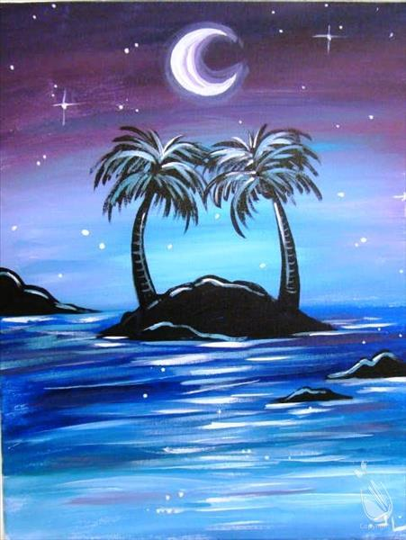 Moonlit Palm Island