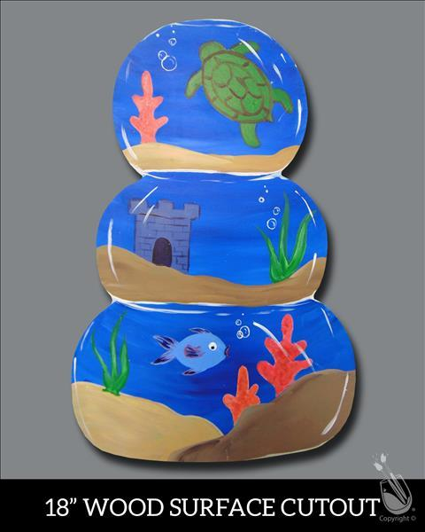 Kids Camp: Stacked Fishbowl Cutout