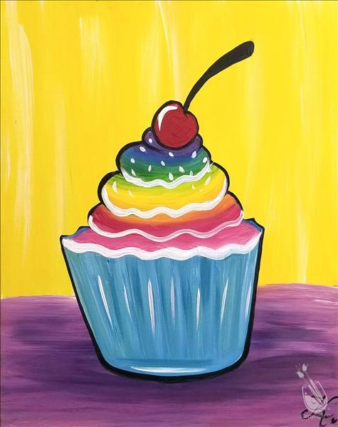 How to Paint Kid's Cupcake Party - All Ages!