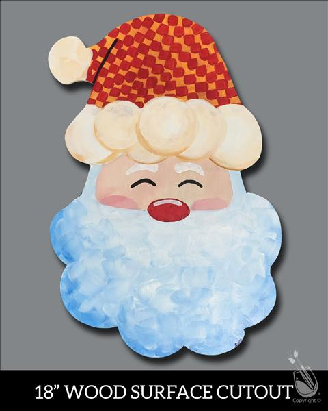 Cheery Santa Cutout