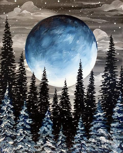 How to Paint Winter's Harvest Moon (Adults 18+)