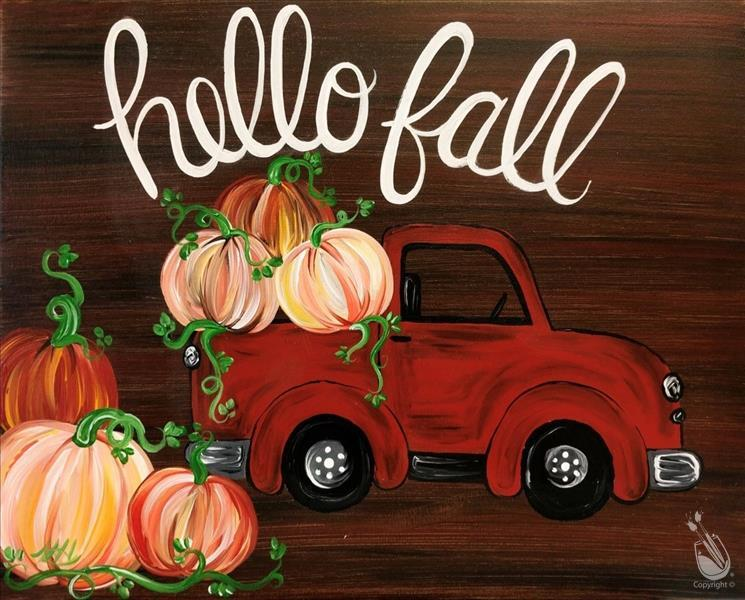 Hello Fall Truck on wood or canvas!