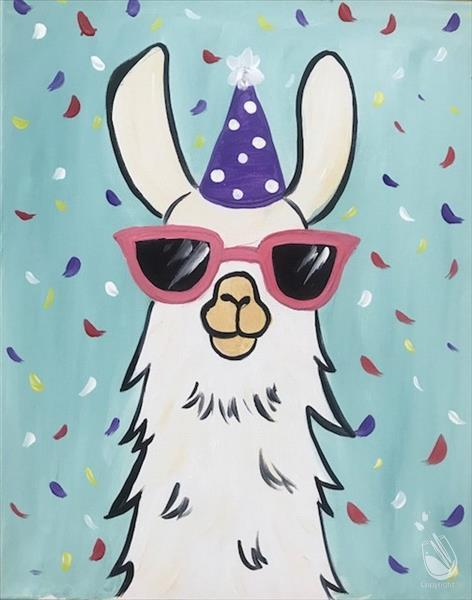How to Paint Party Llama***Ages 7&Up (No Alcohol)