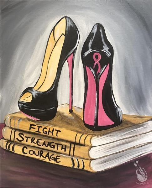 How to Paint Pink Perseverance -Painting w/a Purpose FUNdraiser