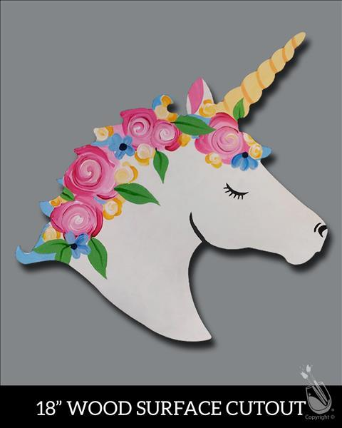 "Spring Unicorn Cutout ""Virtual Event"""