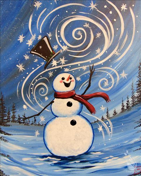 Happy Snowman Painting Party