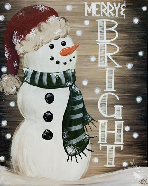 Merry and Bright Rustic Snowman