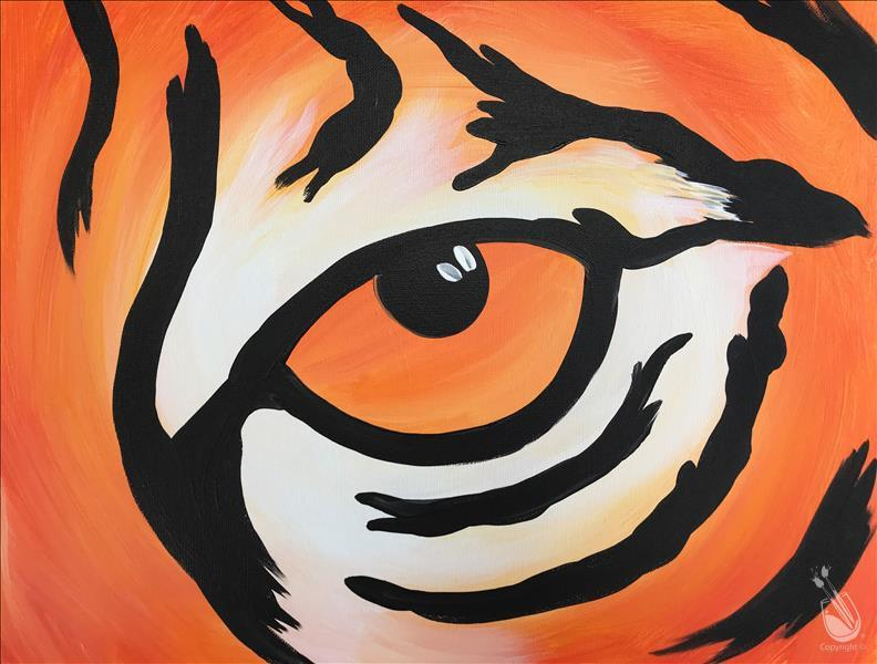 How to Paint FAMILY FRIENDLY - Tiger Eye