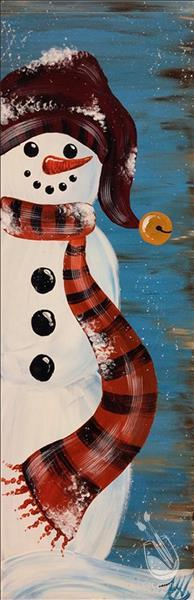 Chilly Rustic Snowman Pallet