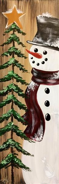 How to Paint Warm Rustic Snowman