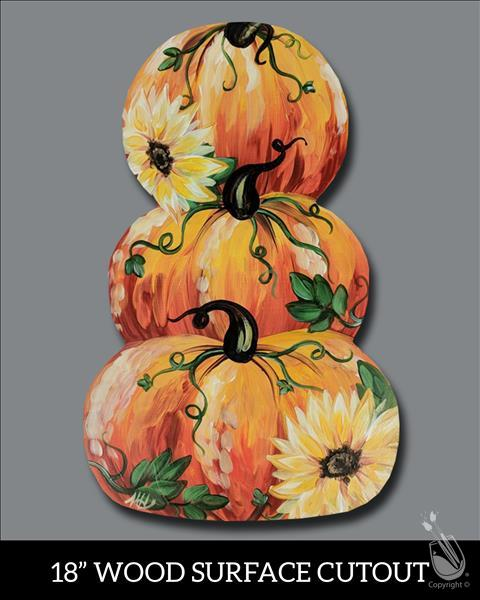 Bright Pumpkins Cutout