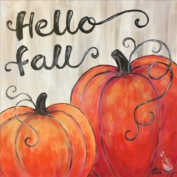 National Pumpkin Day! Paint A Pumpkin Pic!