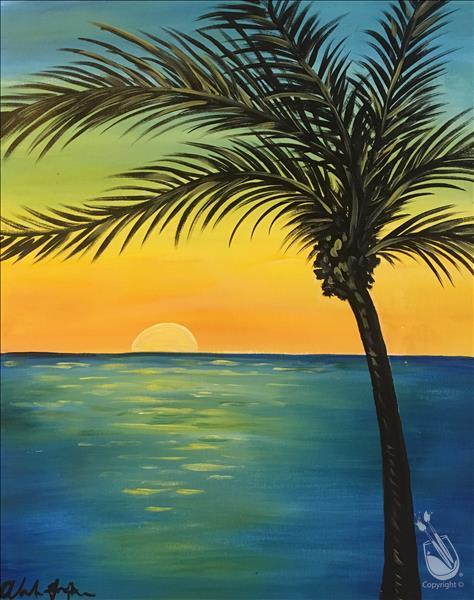 Tropical Teal Sunset (Ages 15+)