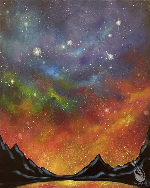 Night Galaxy Painting Party