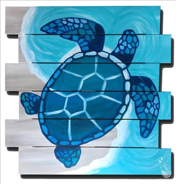 ONLINE Mosaic Sea Turtle Pallet Painting!