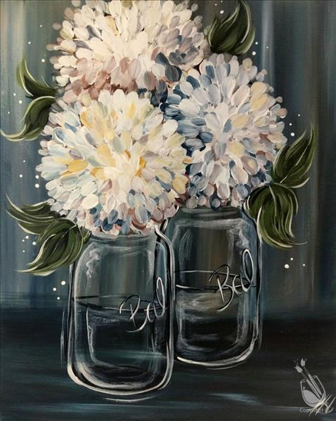 How to Paint Pastel Hydrangeas