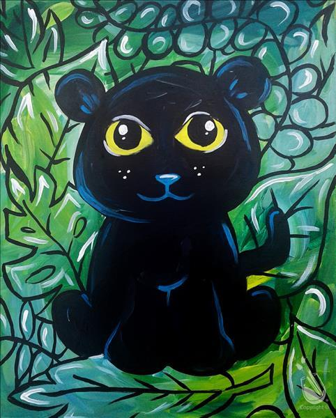 KIDS ART CAMP! -  Option 1: Jungle Panther Cub