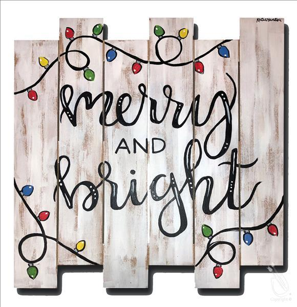 How to Paint *PALLET* Merry and Bright