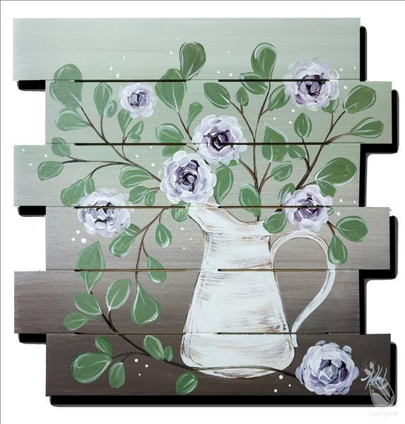 Eucalyptus and Flowers Pallet