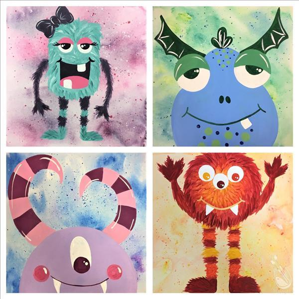 How to Paint Zoe's Monsters! Collect them all! Family Fun Time!