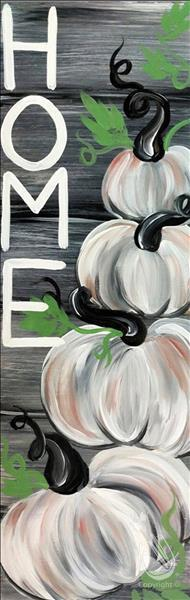 How to Paint Rustic White Pumpkins