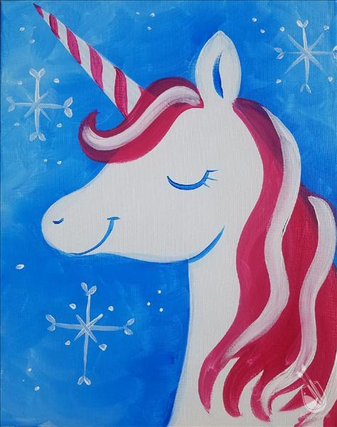 How to Paint FAMILY FUN Ages 6+ Candy Cane Unicorn