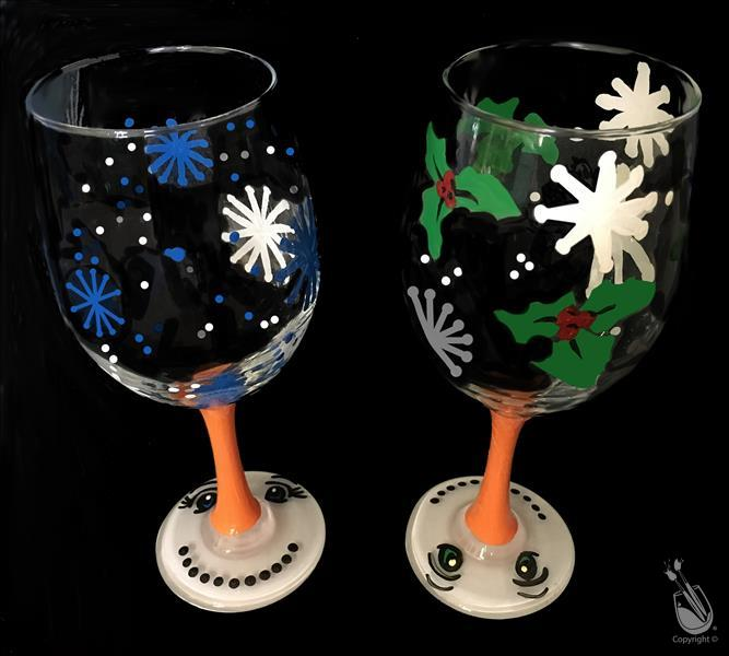 "Snowman ""Nose Stem"" Glassware Set"