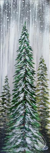 How to Paint Rustic Evergreens