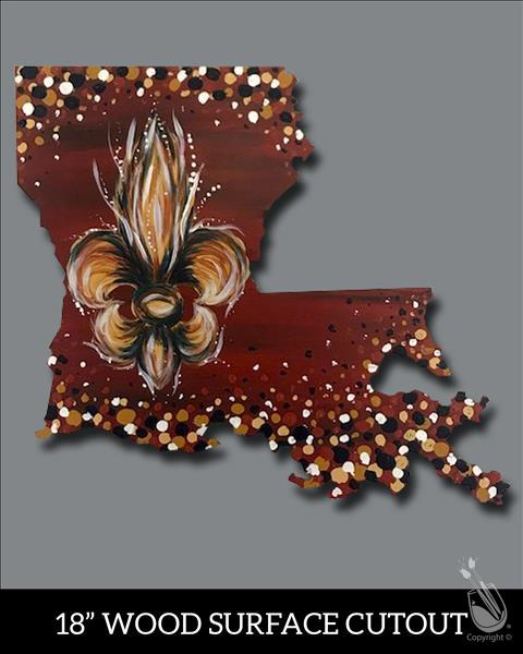 Enchanted Louisiana Cutout!