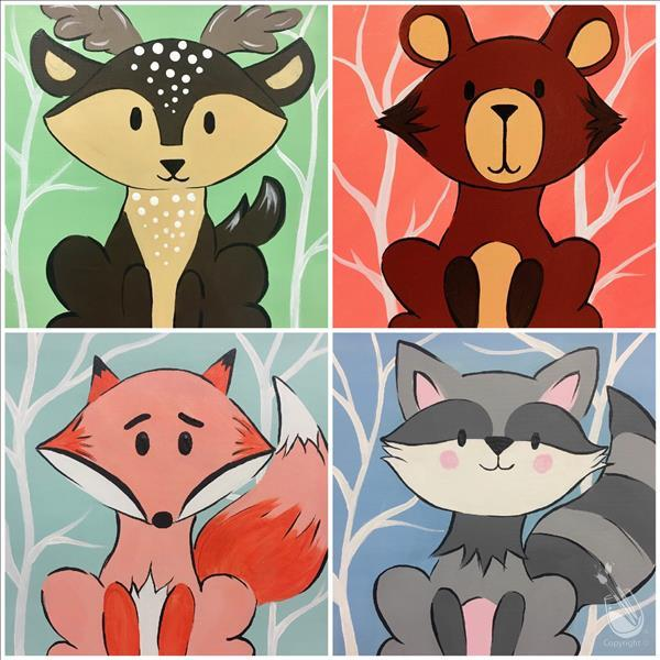 Woodland Animal Series (Pick 1) FAMILY DAY!