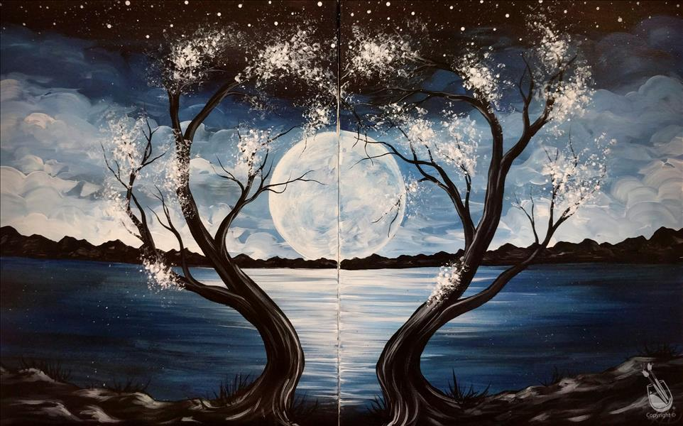**To The Moon & Back** Sip N Paint pARTY!